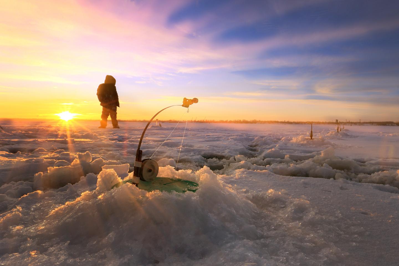 ice fishing holes