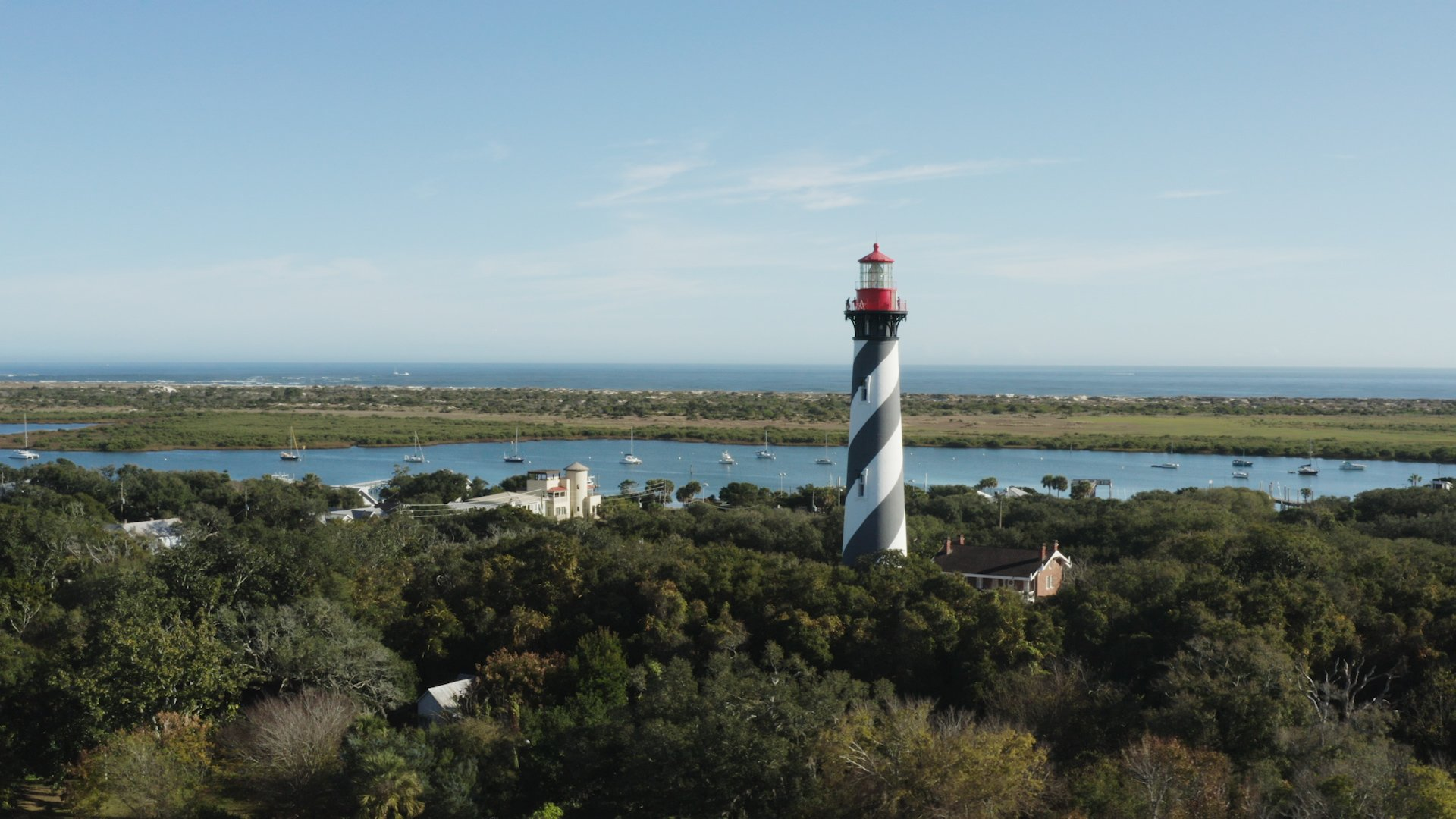 A view of the St. Augustine ligthouse