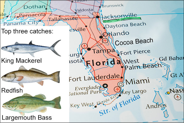 Map Of Florida Showing Daytona Beach.10 Places With The Best Fishing In Florida And None Of Them Is