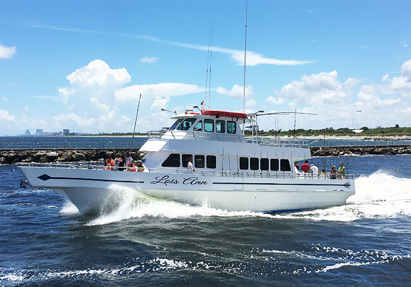 Big drift fishing party boat in Fort Lauderdale.