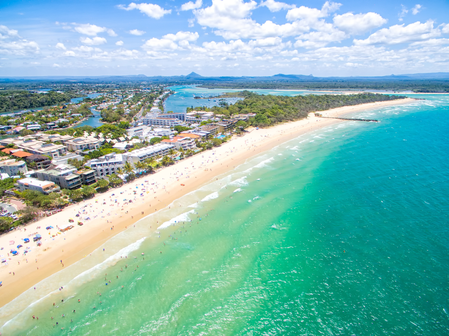 areal view of the Noosa Heads and Sunshine Beach