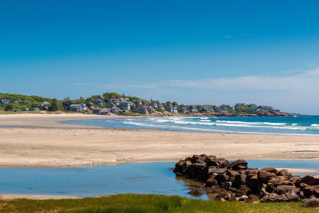 the beach in Gloucester, Massachusetts