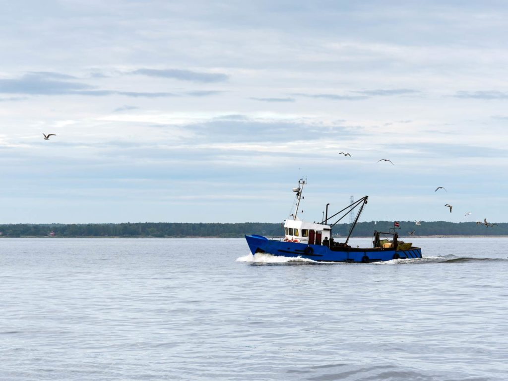Fishing boat in the Gulf of Riga, Baltic Sea