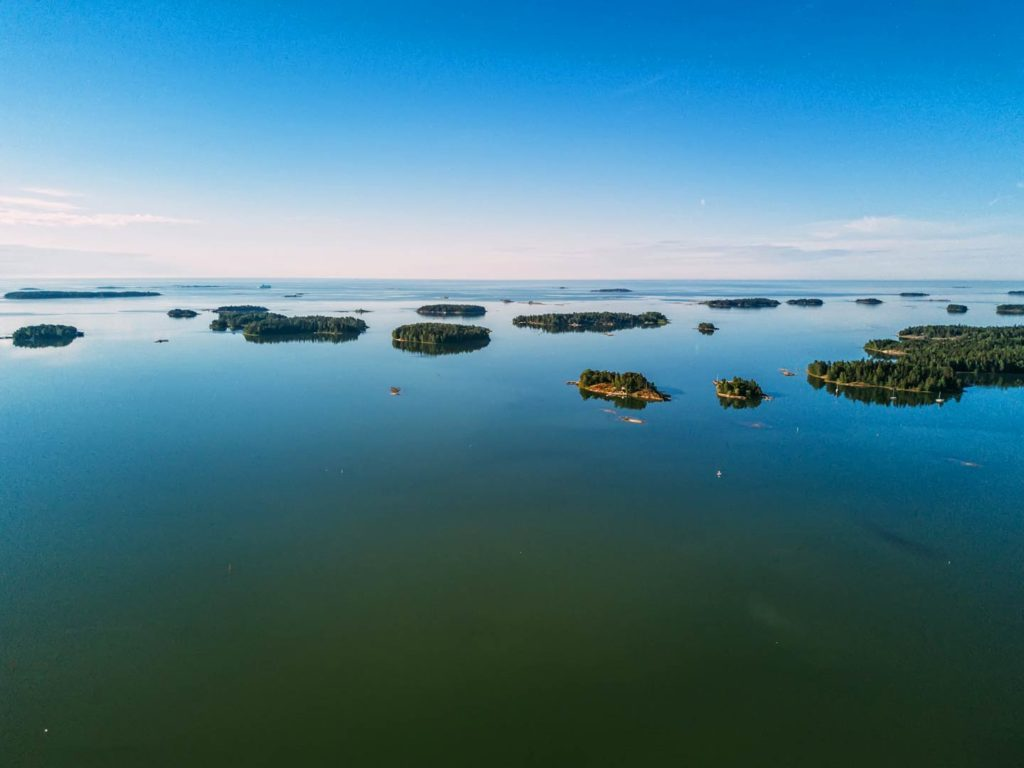 Islands off the coast of Sweden in the Baltic Sea