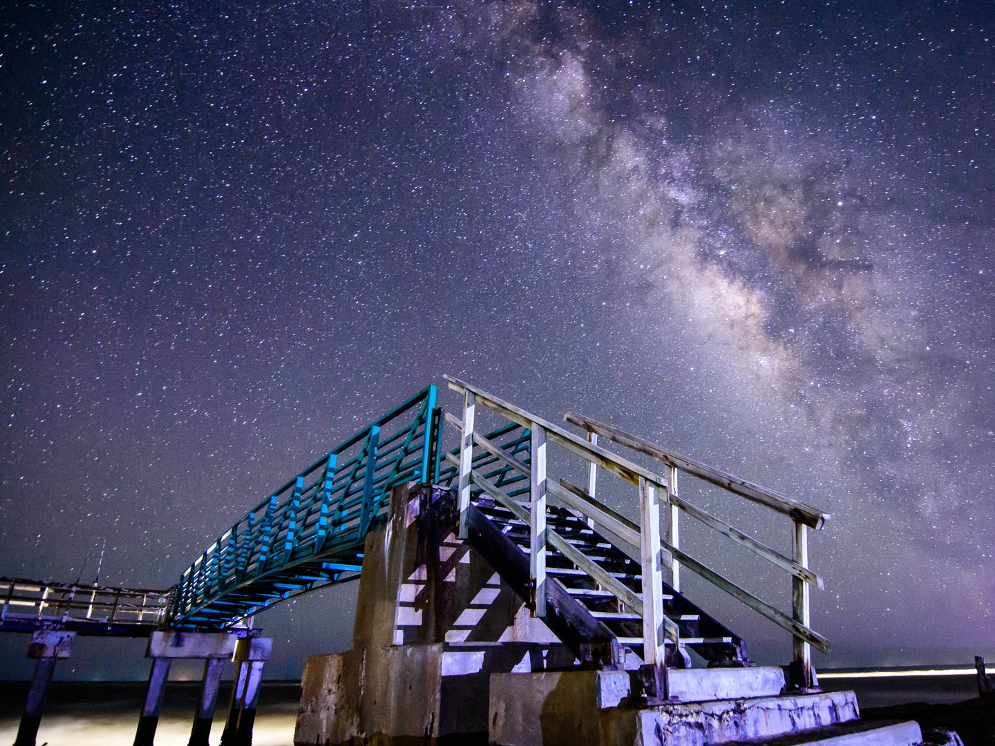 A view of the Milky Way from a pier in Matagorda