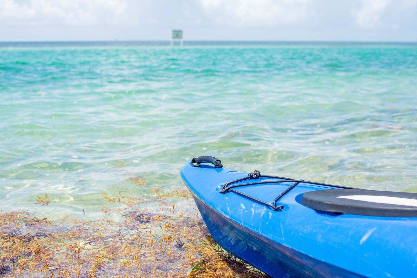 A kayak on a beach in Florida