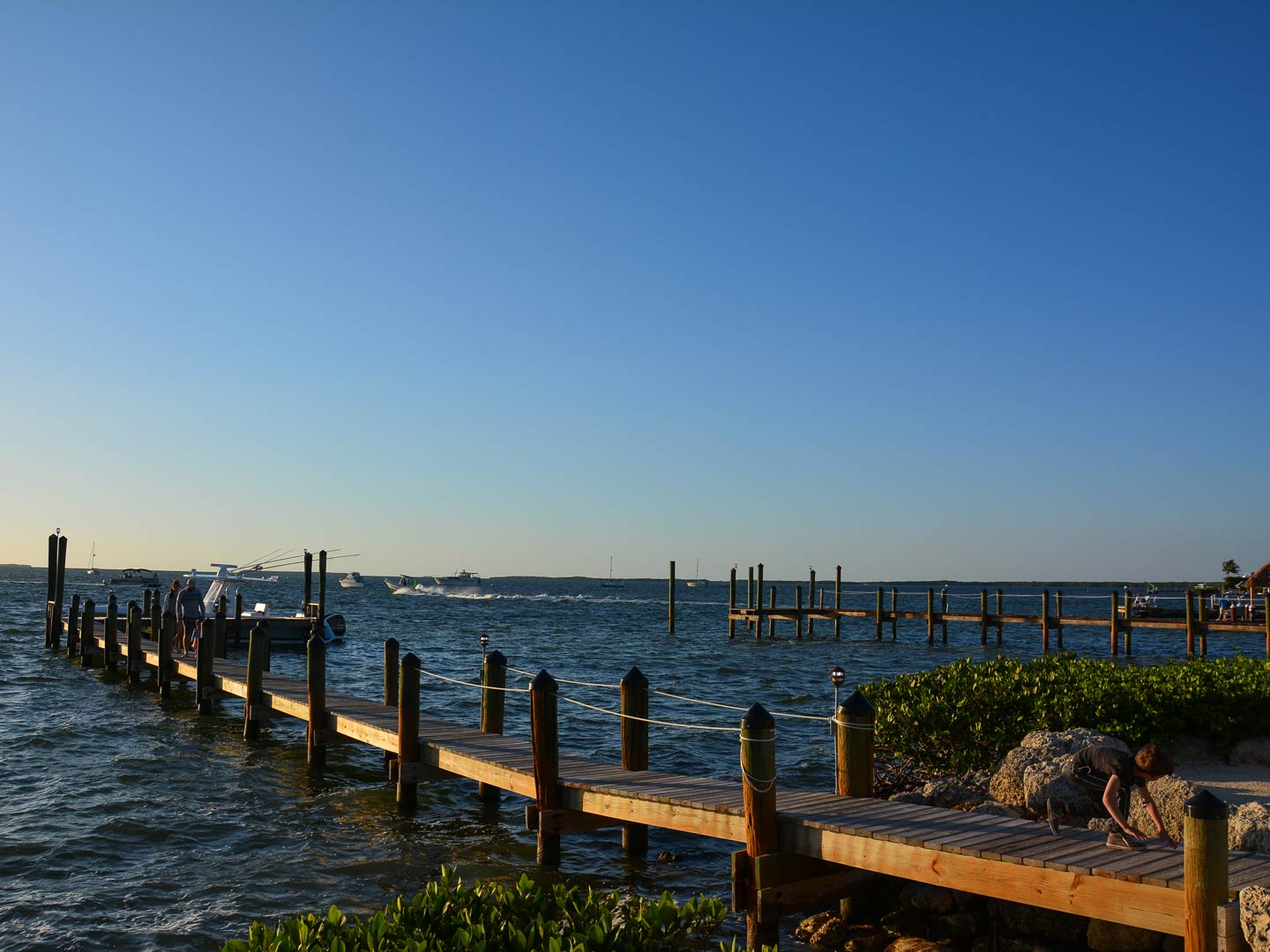 A view of a pier in Key Largo, Florida