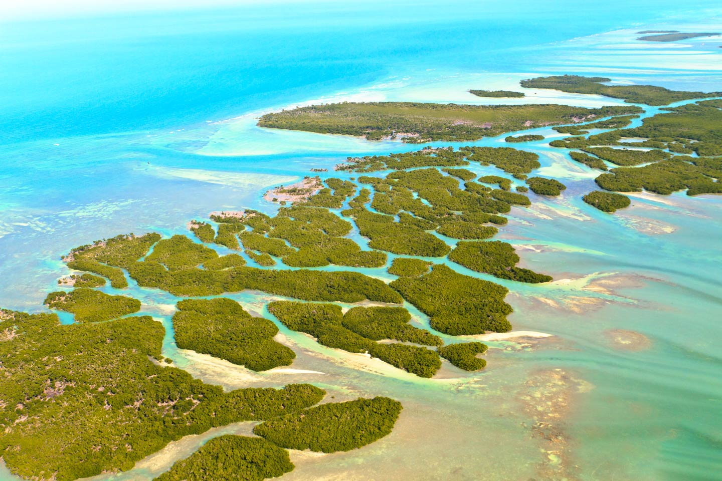 An aerial view of the Florida Keys
