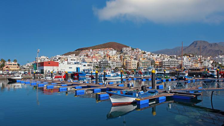 Los Cristianos port, Canary Islands