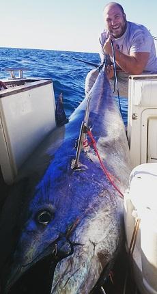 Happy angler with Bluefin Tuna